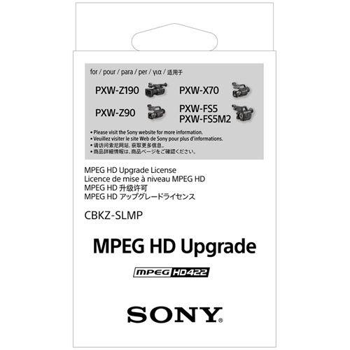 CBKZ-SLMP - Upgrade license - MPEG HD422/HD420 recording - for XDCAM PXW-FS5, PXW-FS5K, PXW-X70