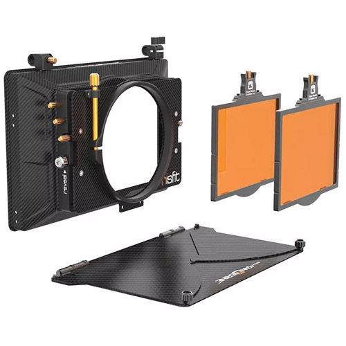 """Misfit Kit 1:  4"""" x 5.65""""  2-Stage Matte Box Top Flag & Mounts, 114 mm Clamp Attachment, 2 tray"""