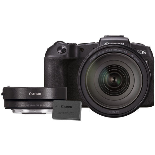 EOS RP Full Frame Mirrorless Camera Body With Bonus LP-E17 and EF-EOS R Lens Mount Adapter