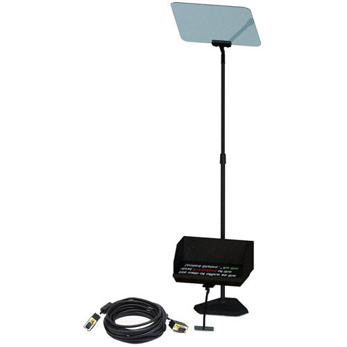 """17"""" Presidential Teleprompter with 17"""" LCD Monitor 14"""" X 16"""" Beamsplittter mirror, includes software"""