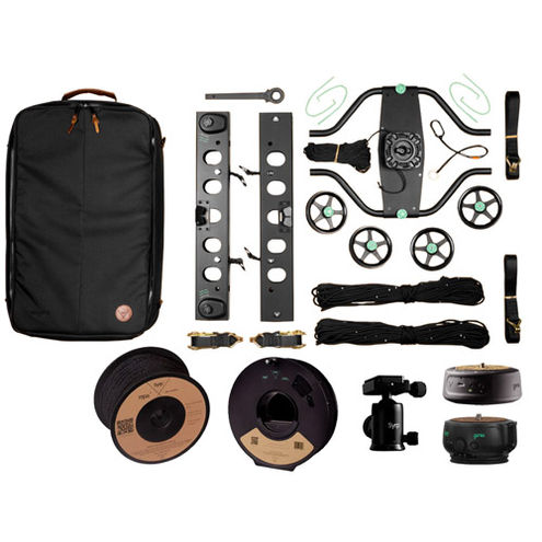 Slingshot Pan Track Cable Cam - Indie Kit (100m), Slingshot, Genie II Linear, Mini, Ballhead, Rope
