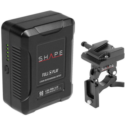 FULL PLAY14.8 V 98 WH rechargeable lithium-Ion  V-mount Battery with V-mount Battery Dock Clamp