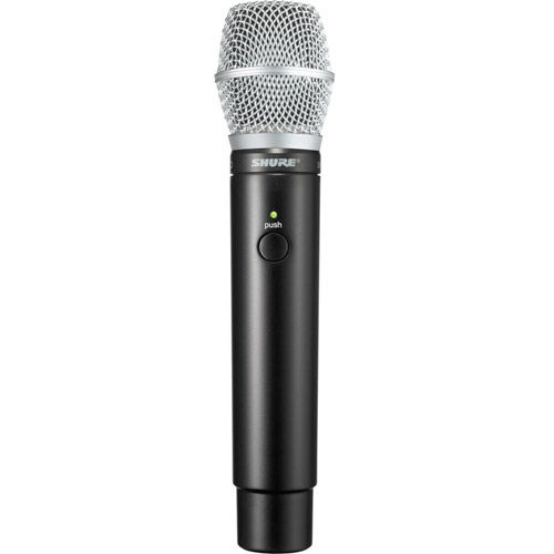 Handheld Transmitter with SM86 Microphone Includes one SB902 Rechargeable Battery