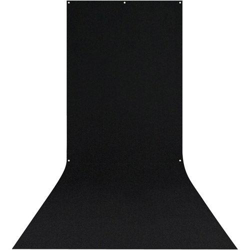 X-Drop Wrinkle-Resistant Backdrop 5'X12' Rich Black Sweep (1.5 x 3.7m)