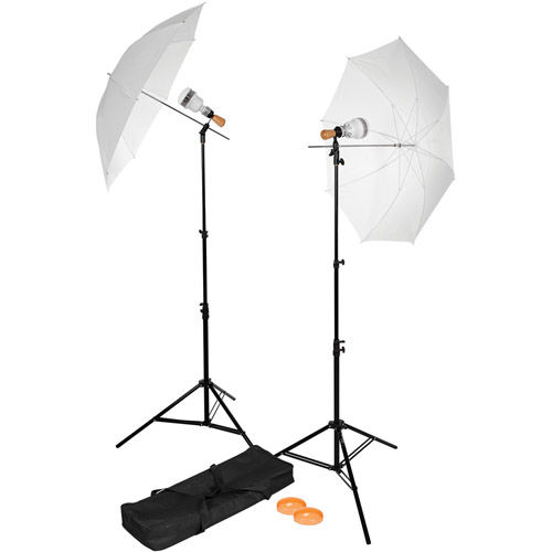 Single-Socket 2-Light LED Umbrella Kit