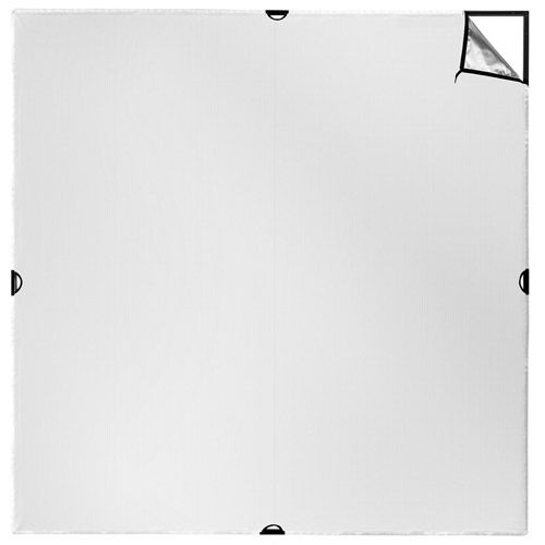 Scrim Jim Cine 2-in-1 Silver/White Bounce Fabric (2.4 x 2.4m) 8'x 8'