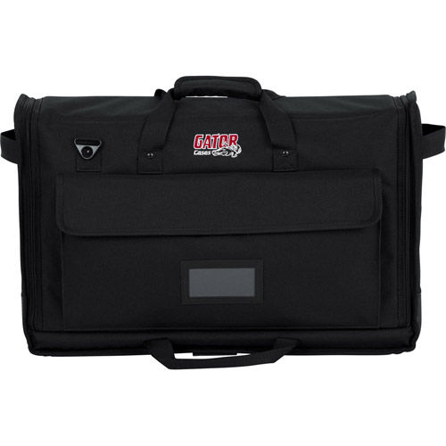 Padded Nylon Carry Tote Bag for  Transporting (2) LCD Screens Between 19″ – 24
