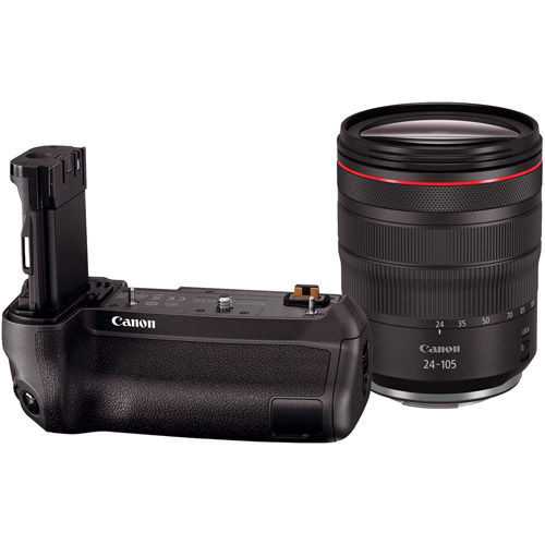 RF 24-105mm f4 L IS USM Lens with Battery Grip BG-E22 for EOS R