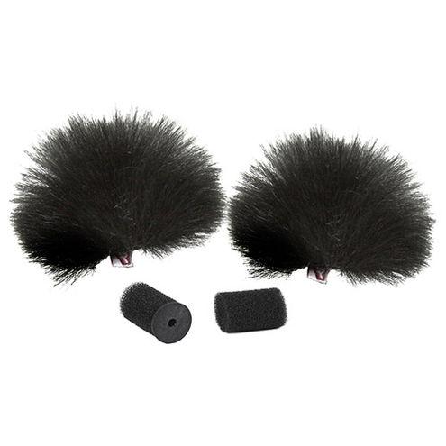 Black Lavalier Windjammer  - pair