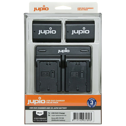 2x Battery NP-FZ100 2040mAh + USB Dual Charger Kit
