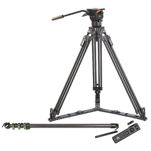TS50AL Fluid Head & Tripod Kit w/JQ40 Carbon Fiber Mini Jib and Motion Sensor Remote Ctr