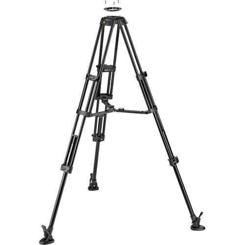 Twin Leg Aluminium Tripod w/ Groud Level Spreader & 75/100mm Bowl