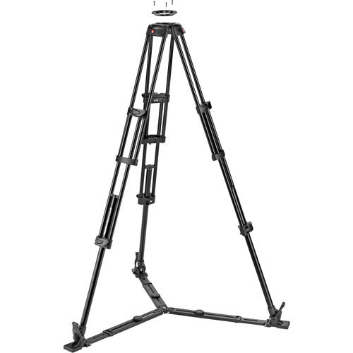 Twin Leg Aluminium Tripod w/ Mid Level Spreader & 75/100mm Bowl