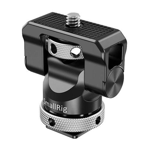 Swivel and Tilt Monitor Mount with Cold Shoe