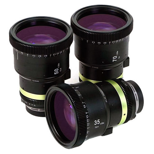 1.33x Anamorphot-CINE Lens Set with 35mm T/2.4, 50mm T/2.8 and 70mm T/4.0 Lenses for PL Mount