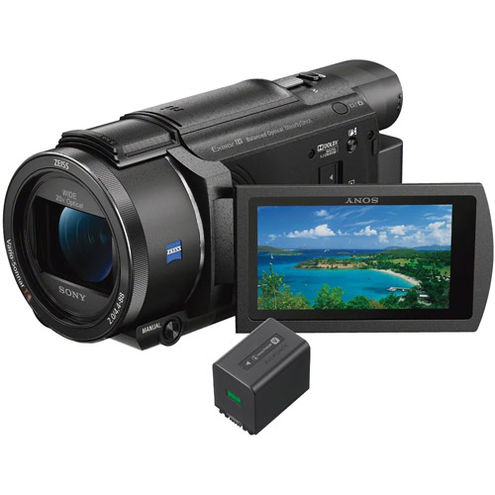 FDRAX53B 4K Camcorder w/ 50% off NPFV70A Battery