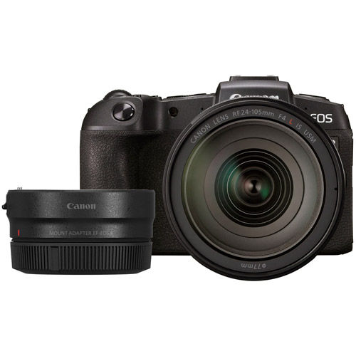 EOS RP Full Frame Mirrorless Kit w/RF 24-105 f4 L IS USM Lens  with EF-EOSR Adapter