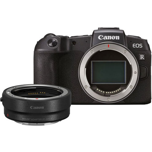 EOS RP Full Frame Mirrorless Camera Body  with EF-EOSR Adapter