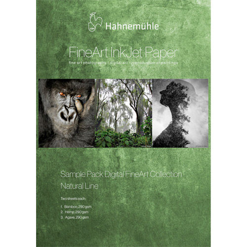 """Natural Line Sample Pack 13""""x19"""" Contains: 2 sheets each of Bamboo, Hemp, Agave"""