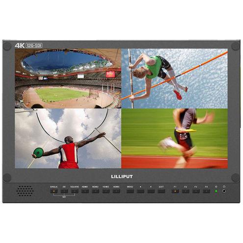 "15.6"" 12G-SDI 4K Broadcast Director Monitor with 12G-SDI, HDMI, Tally inputs"