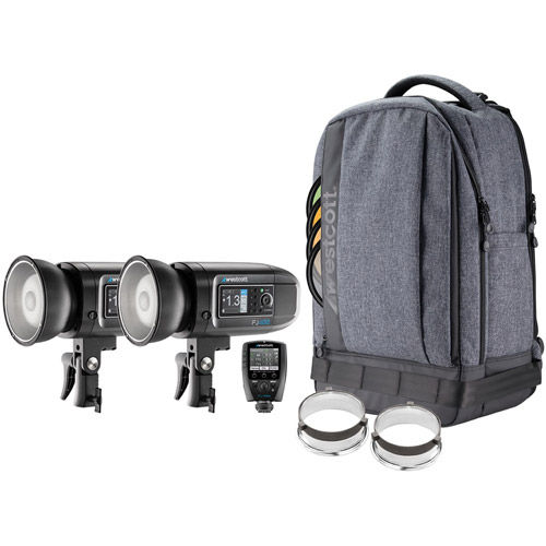 FJ400 Strobe 2-Light Backpack Kit w/ FJ-X2m Universal Wireless Trigger