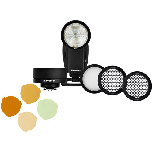 A1X Off-Camera Kit - Nikon w/ PROMO Wide Lens, Gel Kit And Grid Kit