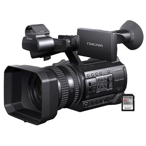 Sony HXR-NX100/3 1.0-inch Type CMOS Compact Memory Camcorder Bundle w/Free SFM256/T2 Flash Memory