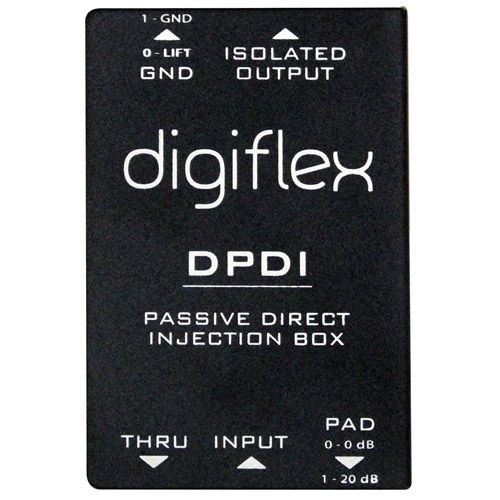 DPDI Single Channel Passive Direct Box with 1/4' In and Through, Pad and Ground Lift