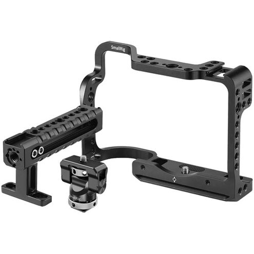 Cage Kit for Canon EOS R  with Swivel Tilt Monitor Mount with Cold Shoe, Handle