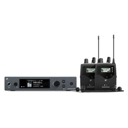 EW IEM G4 TWIN Dual Wireless Monitor Set Frequency Range:A (516 - 558 MHz)
