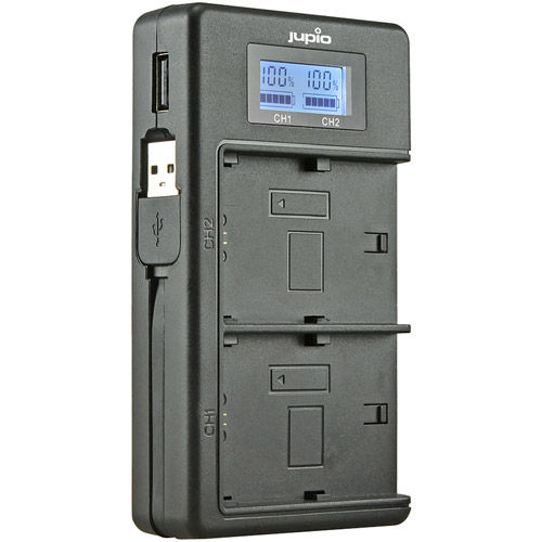 USB Dedicated Duo Charger LCD for Sony NP-FM50, NP-F550/F750/F970