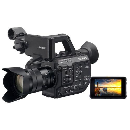 PXW-FS5M2K 4K XDCAM Super 35mm Compact Camcorder w/ E PZ 18-105mm and ATOMOS Shogun 7