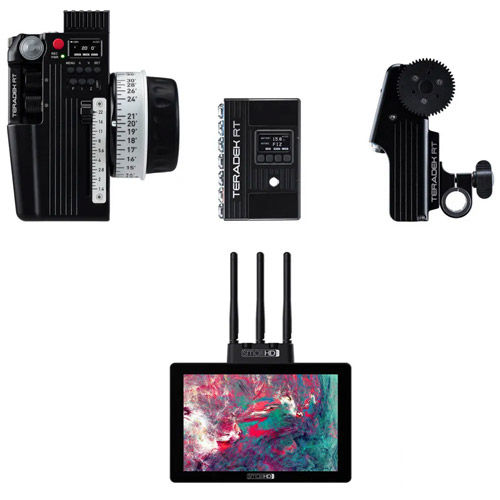CTRL.3 Wireless Lens Control Deluxe Kit (1-Motor) plus a FREE SmallHD Cine7 500 Rx Monitor/Receiver