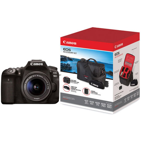 EOS 90D With EF-S18-55mm f/3.5-5.6  Lens  With Advanced Accessory Kit