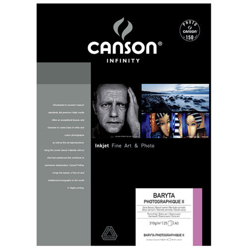 A3+ Infinity Baryta Photographique Satin II - 310 gsm - 25 Sheets