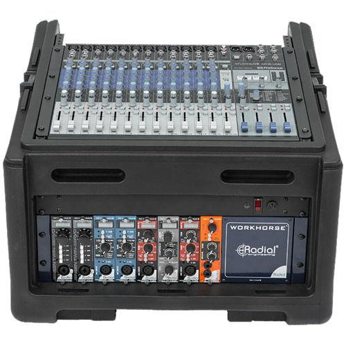 Compact Roto Rack/Mixer Case w/10U Top & 4U