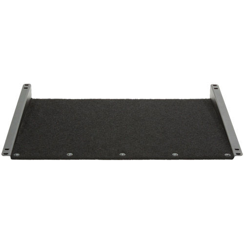 Touch-Fastener Compatible Rack Shelf for Slant-Mount Racks