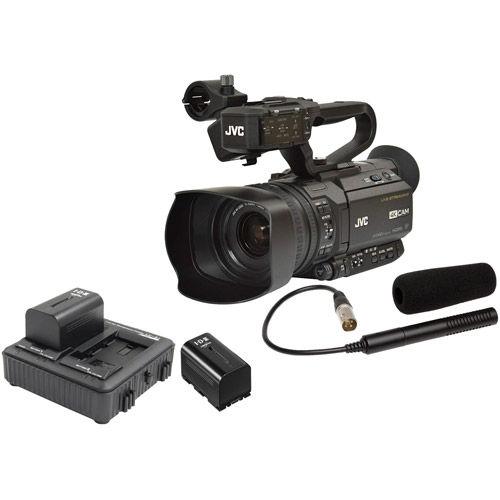 GY-HM250 4KCam Streaming Camcorder w/ Free QAN0067-003 Microphone,SSL-JVC50 & LC-2J