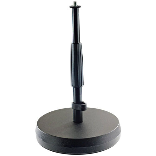 23325-BLACK Table Microphone Stand w/Weighted Base