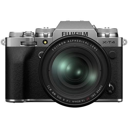 Fujifilm X-T4 Mirrorless Kit Silver w/ XF 16-80mm f/4 R OIS WR Lens