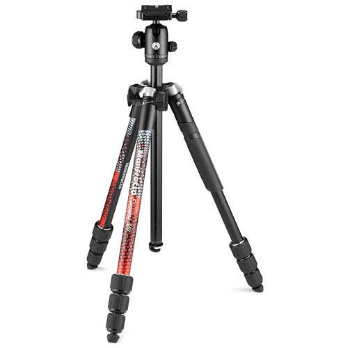 Element MII Aluminum Tripod 4 Section w/ Ball Head (Red)