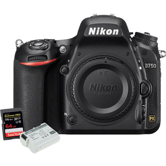 Nikon D750 Body w/ EN-EL15 Battery & Extreme Pro 64GB SDXC Card