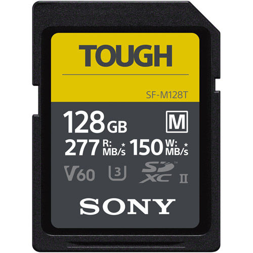 TOUGH-M 128GB SDXC UHS-II U3 Class 10 V60 Card, 277MB/s read & 150MB/s write speeds