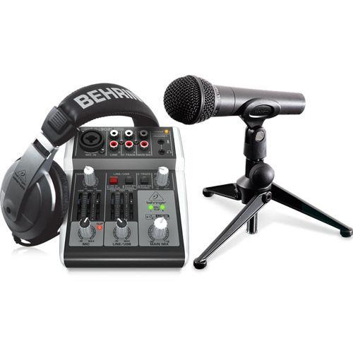 PODCASTUDIO 2 USB Podcasting Bundle with USB Mixer, Microphone, and Headphones