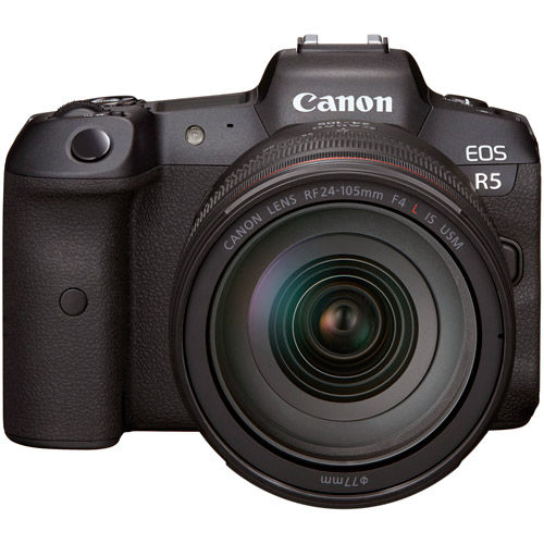 Image of Canon EOS R5 Full Frame Mirrorless Camera Body with RF 24-105mm f4 L IS USM Lens