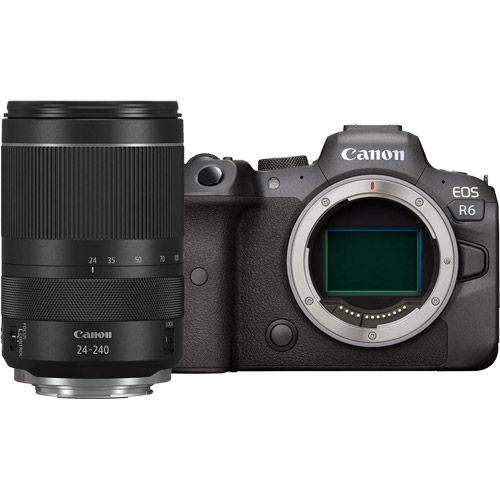Image of Canon EOS R6 Full Frame Mirrorless Camera Body with RF 24-240mm f4-6.3 IS USM Lens