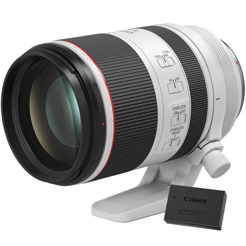 RF 70-200mm f2.8L IS USM With LP-E17 Battery Pack
