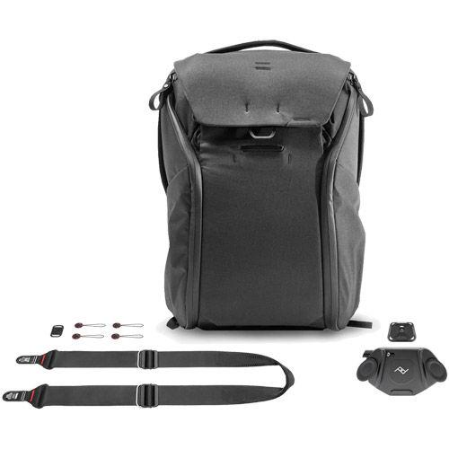 Everyday Backpack 20L V2, Capture Camera Clip V3 and Slide Camera Strap - Black