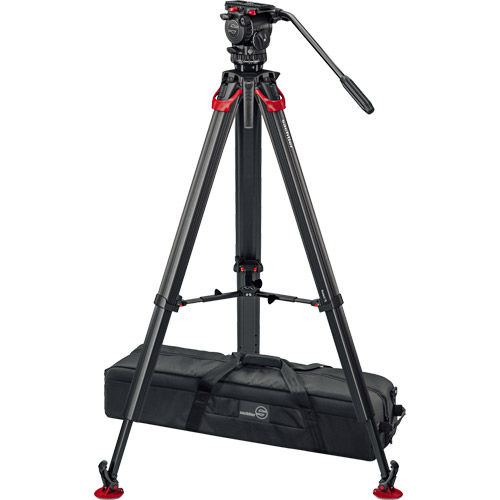 aktiv6 Fluid Head (S2064S) + Tripod Flowtech75 MS with Mid-Level Spreader and Padded Bag