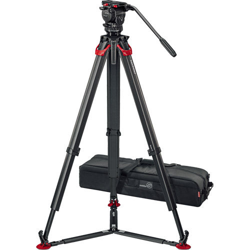 aktiv6 Fluid Head (S2064S) + Tripod Flowtech75 GS with Ground Spreader and Padded Bag